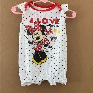 6-9 months Baby Girl Minnie Mouse Romper